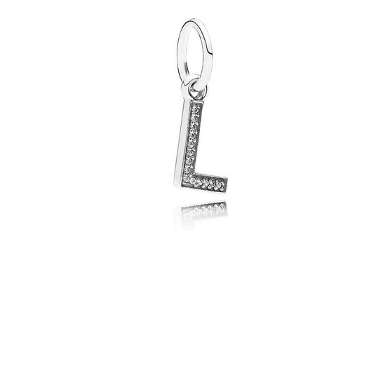 PANDORA CZ Dangle 'L' Charm