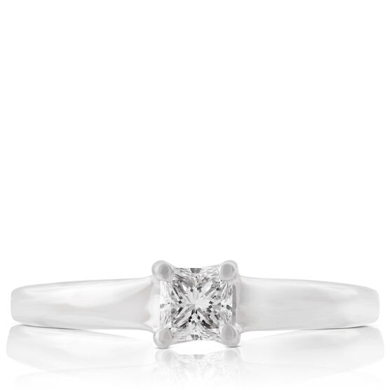 Ikuma Canadian Princess Cut Diamond Solitaire Ring 14K, 1/3 ct.