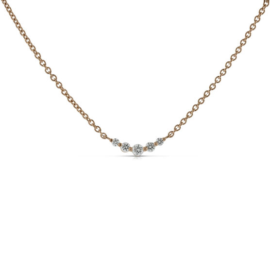 Diamond Station Necklace 14K