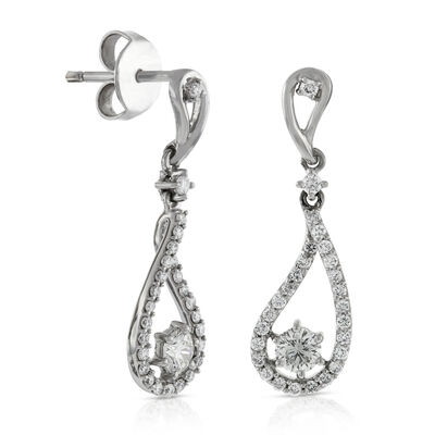 Signature Forevermark Diamond Drop Earrings 18K