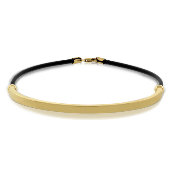 Rubber Cord Bangle 14K
