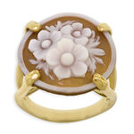 Toscano Collection Shell Cameo Ring 18K