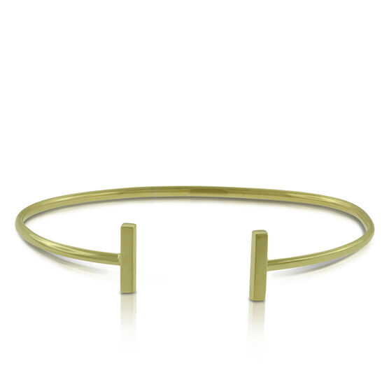 Bar Cuff Bracelet 14K