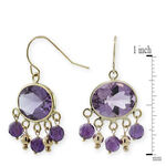 Amethyst Earrings 14K
