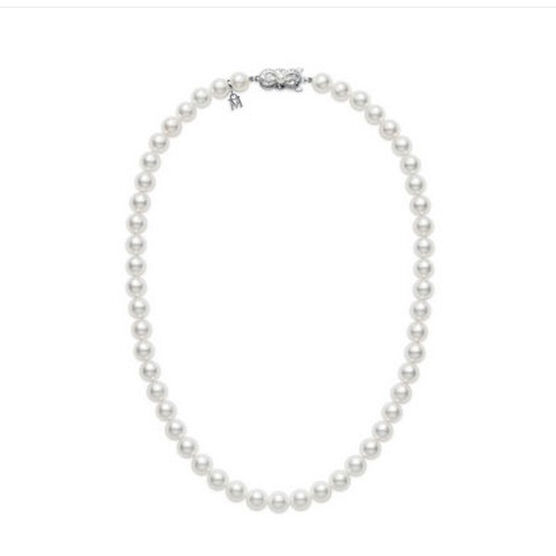 "Mikimoto Akoya Cultured Pearl Strand, 6.5mm, A1, 18K, 16"""