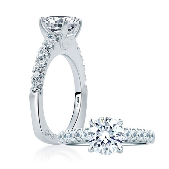 A.JAFFE Diamond Semi-Mount Ring 18K