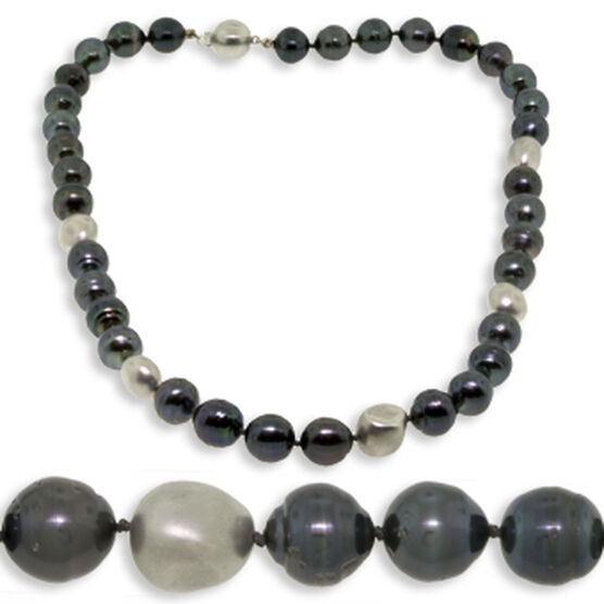 Tahitian South Sea Cultured Pearl Strand 14K