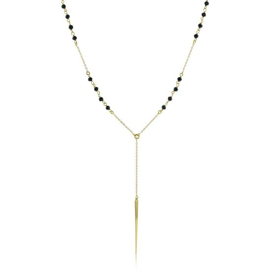 Lisa Bridge Spinel Drop Necklace 14K