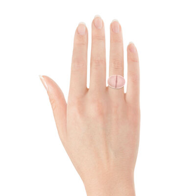 Rose Gold Pink Quartz Ring 14K
