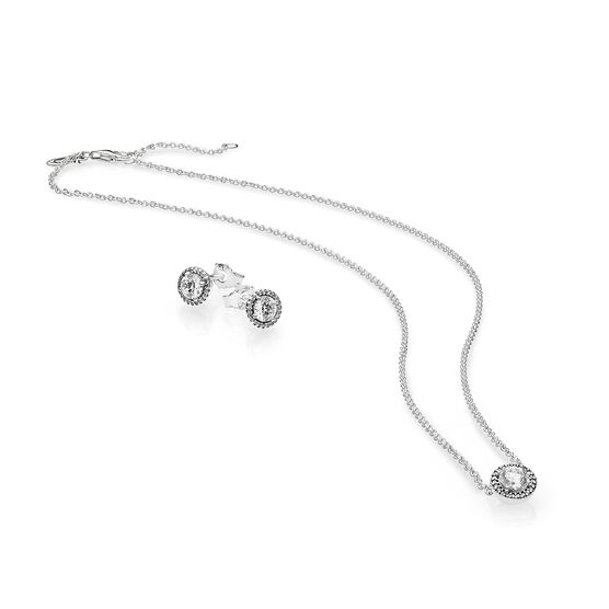 PANDORA Classic Elegance Jewelry Gift Set, Necklace & Earrings