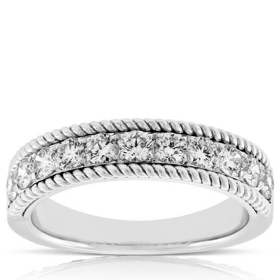 Diamond Wire Edge Band 14K