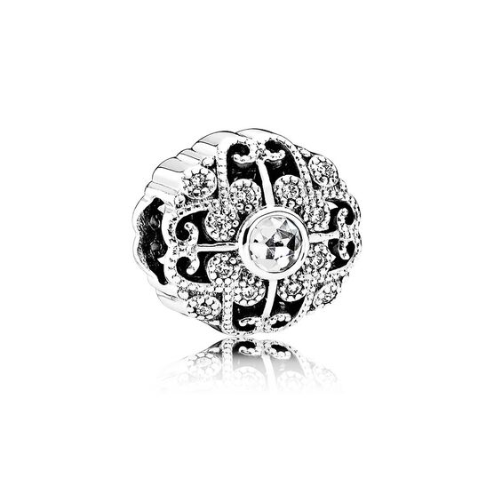 PANDORA Fairytale Bloom CZ Charm