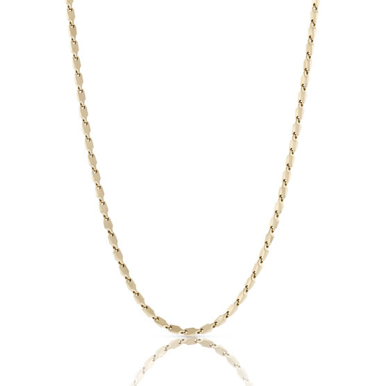 Toscano Collection Flat Link Chain 18K, 24""