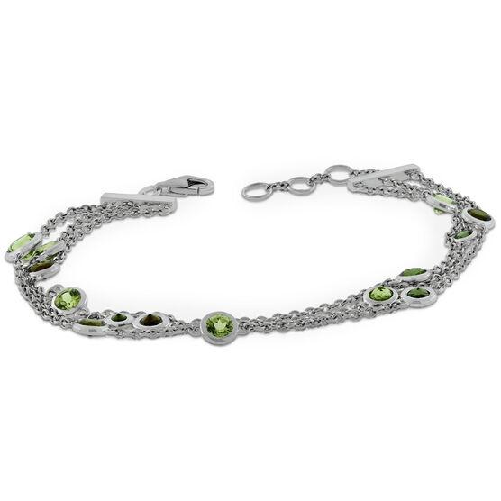 Lisa Bridge Bezel Gemstone Bracelet
