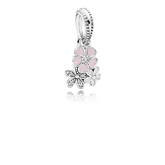 PANDORA Clear Poetic Blooms Dangle Charm