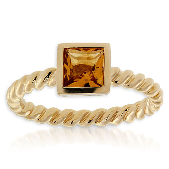 Citrine Stackable Ring 14K