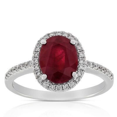 Ruby & Diamond Ring 14K