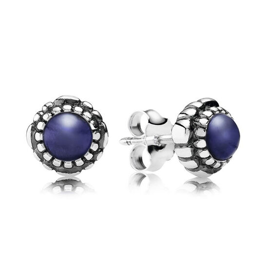 PANDORA Birthday Blooms September Earrings
