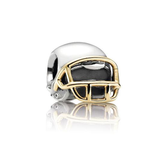 PANDORA Football Helmet Charm, Silver & 14K