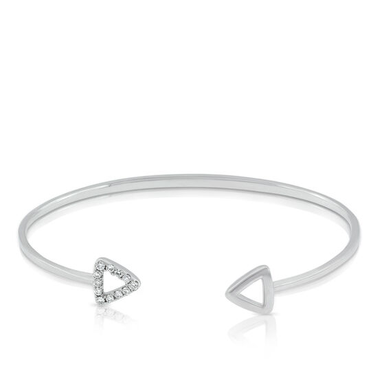 Double Triangle Diamond Cuff 14K