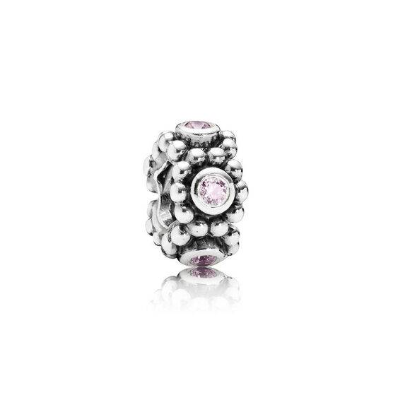 PANDORA Her Majesty Pink CZ Spacer