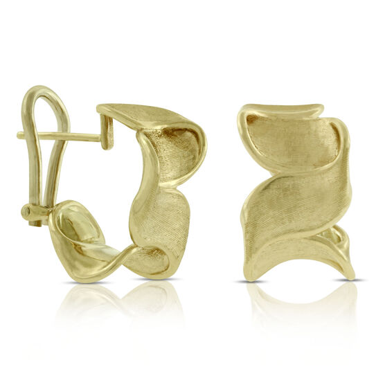 Toscano Ribbon Earrings 14K