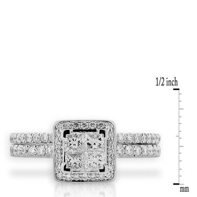 Diamond Wedding Set 14K White Gold
