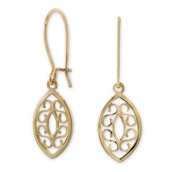 Dangle Marquise Earrings 14K