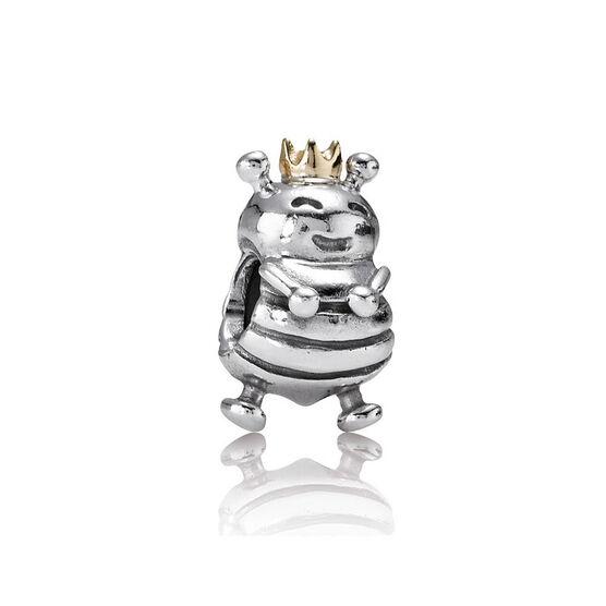 PANDORA Queen Bee Charm, Silver & 14K
