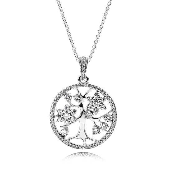 PANDORA Family Tree CZ Necklace