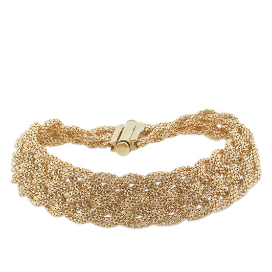 Toscano Collection Woven Bracelet 18K