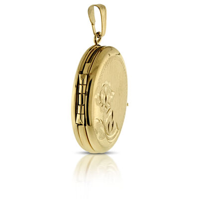 Oval 4 Photo Locket 14K