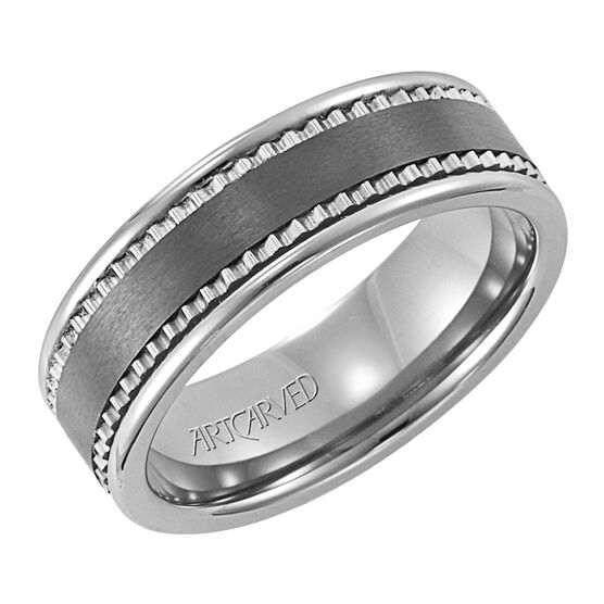 Men's ArtCarved Band in Tungsten