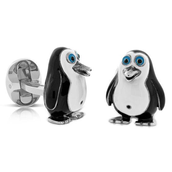 Deakin & Francis Penguin Cufflinks in Sterling Silver