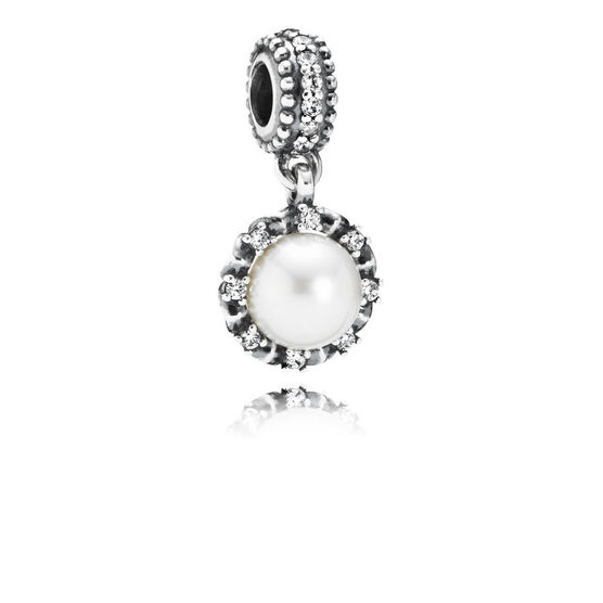 PANDORA Everlasting Grace Pearl & CZ Charm