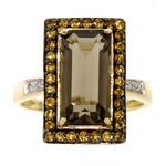 Gemstone & Diamond Pendant 14K