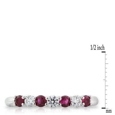 Ruby & Diamond Ring in Platinum
