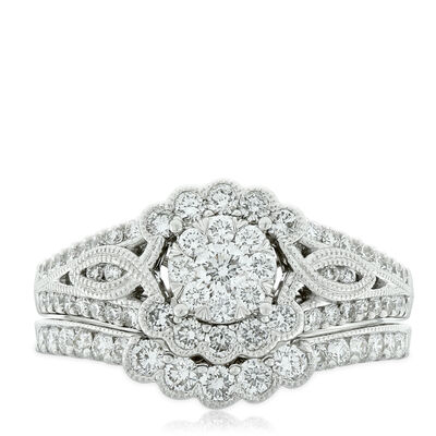 Love Eternal Diamond Wedding Set 14K