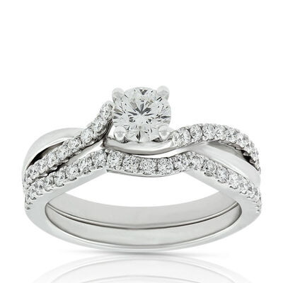 Signature Forevermark Diamond Twist Bridal Set 18K
