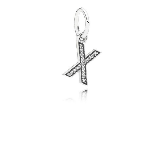 PANDORA CZ Dangle 'X' Charm