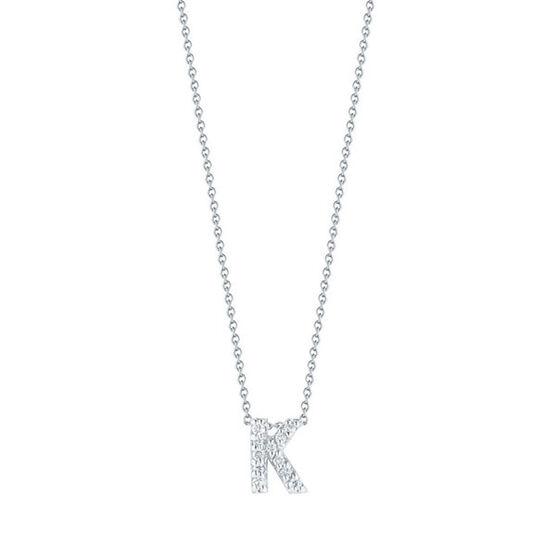Roberto Coin Diamond Initial Pendant 18K Letter 'K'