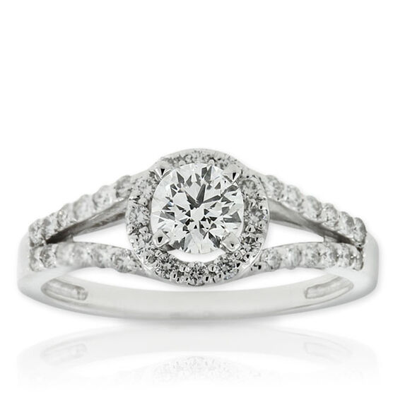 Forevermark Diamond Ring 18K, 1/2 ct. center