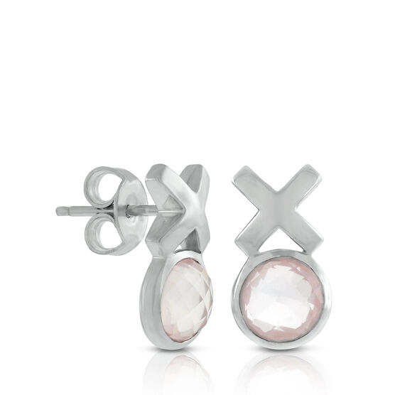 Lisa Bridge Rose Quartz XOXO Earrings