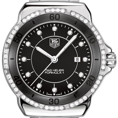 TAG Heuer Formula 1 Black Watch with Diamonds
