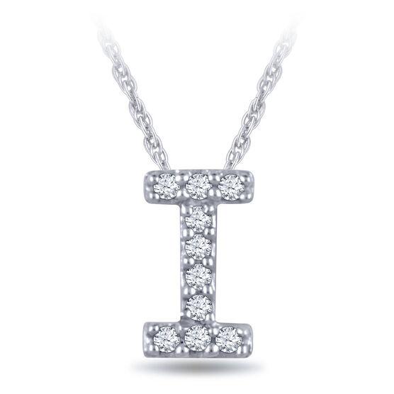 Diamond Initial Pendant 14K Letter 'I'