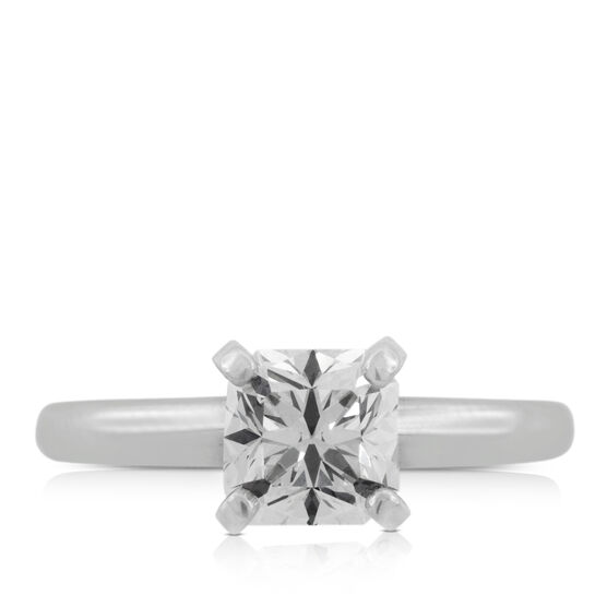 Ikuma Canadian Square Ideal Cut Diamond Solitaire Ring 14K, 1 ct.