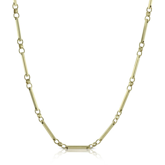 Toscano Circle Bar Necklace 18K