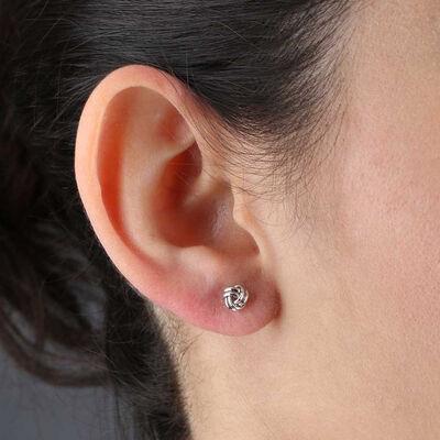 Small Knot Earrings 14K