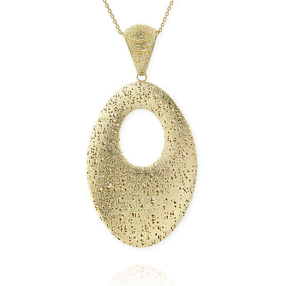 Toscano Collection Oval Drop Pendant 14K