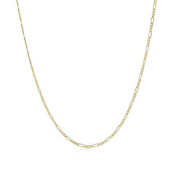 Figaro Link Chain 14K, 18""